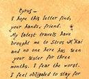 Tobias' Letter