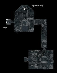 Форт Кастав - тюрьма - план