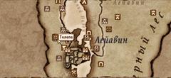 Телепе - карта
