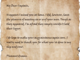 Letter to Captain Helane