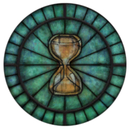 Akatosh Stained Glass Circle