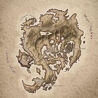 Карта Дрожащих Островов