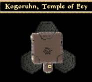 Kogoruhn, Temple of Fey - Interior Map - Morrowind