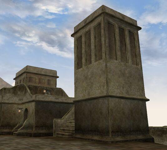 File:TES3 Morrowind - Balmora - Western Guard Tower North exterior.jpg
