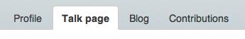 Talk page tab