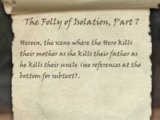 The Folly of Isolation, Part 7
