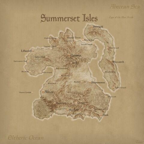 Mapa Wysp Summerset