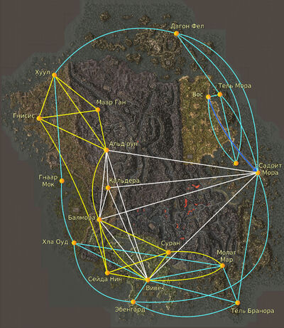 Карта транспорта Вварденфелла