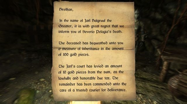 Letter of Inheritance | Elder Scrolls | FANDOM powered by Wikia