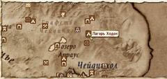Лагерь Ходок - карта