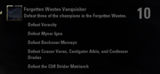 Forgotten Wastes Vanquisher Achievement