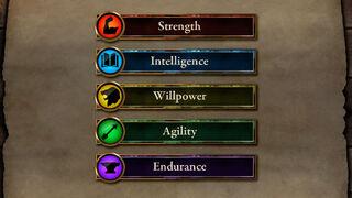 TES Legends atributos