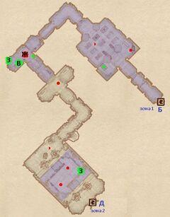 Форт Магиа - Гарнизон. План
