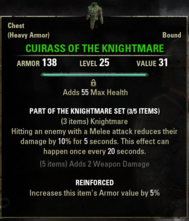 Knightmare - Cuirass 25