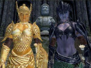 Złote Bóstwo i Mroczna Uwodzicielka (Oblivion)