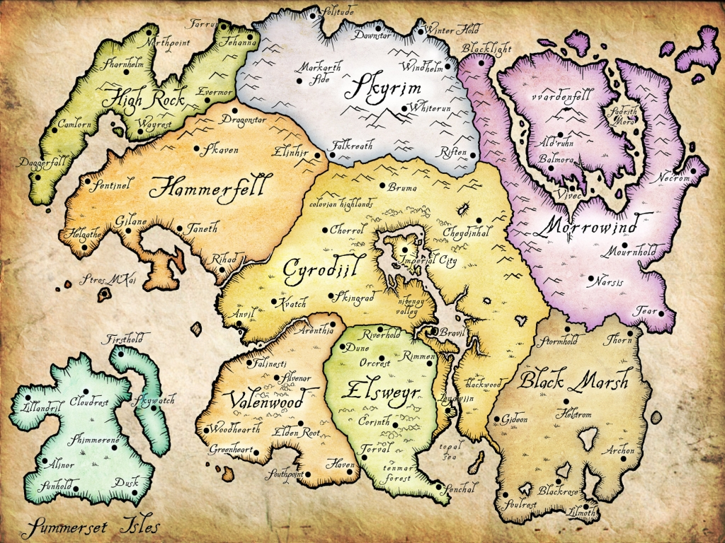 Nirn elder scrolls fandom powered by wikia map tamriel gumiabroncs Image collections