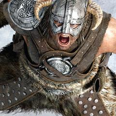 Dovahkiin używający Thu'um ze zwiastunu gry The Elder Scrolls V: Skyrim