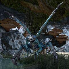 Niebieski lądowy Dreugh z gry The Elder Scrolls Online