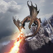 Wildfire Dragon new card art