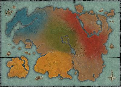Политическая карта Тамриэлья (2Э582)