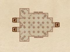 Крипта часовни Кватча. План