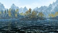 Озеро Гейр - островок под Глоткой Мира