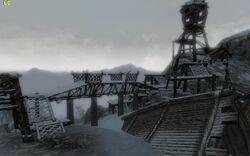 Странное судно и сторожевая башенка
