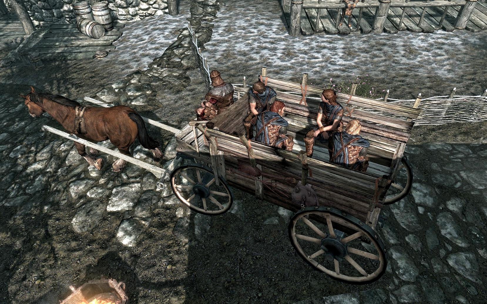 Arriving at Helgen