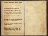 Nine Commands of the Eight ...
