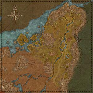 Долина Сильвенар (карта)