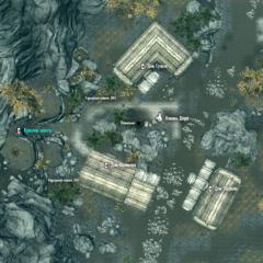 Красная шахта на карте Камня Шора
