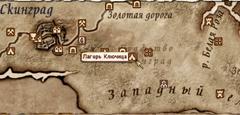 Лагерь Ключица - карта