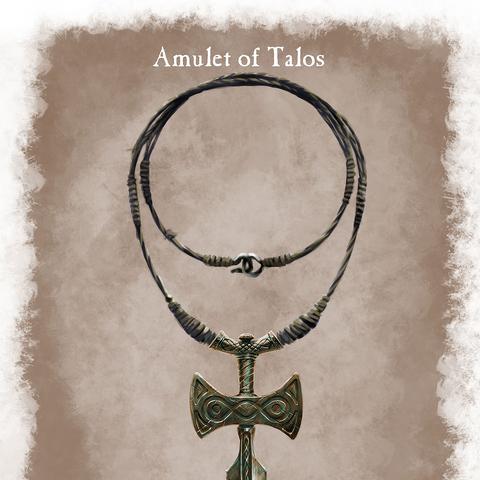 Grafika koncepcyjna amuletu Talosa
