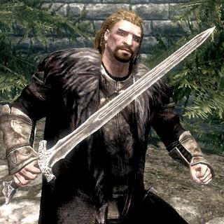 Ulfrik przed rozpoczęciem bitwy o Samotnię