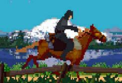 Вечный Чемпион верхом на лошади