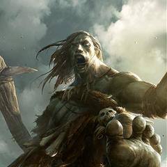 """Karta """"Górski tyran"""" z gry The Elder Scrolls Legends"""