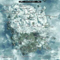 Mapa Solstheim w The Elder Scrolls V: Skyrim
