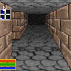 Gwiazda Zaranna, tak jak została przedstawiona w formie korytarzy, z gry The Elder Scrolls Travels: Dawnstar