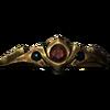 Золотой обруч с рубином