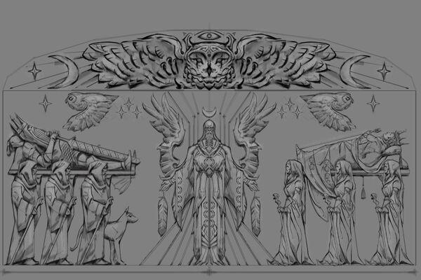 Płaskorzeźba sowa (Conceptart) by Adam Adamowicz