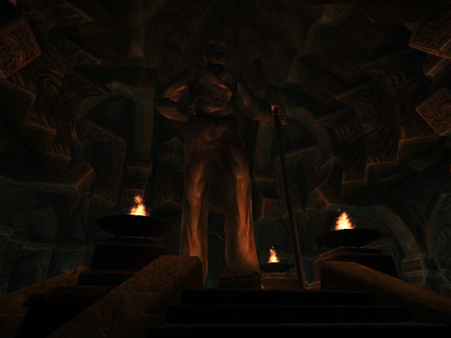 File:Ald Daedroth, Statue of Sheogorath Morrowind.png