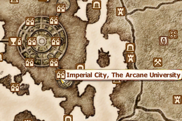 Arcane university oblivion elder scrolls fandom powered by wikia map gumiabroncs Choice Image