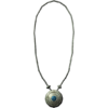 Серебряное ожерелье с сапфиром