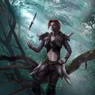 Recruit (Wood Elf) card art