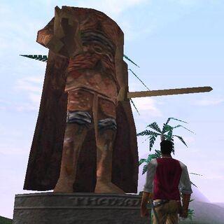 Statua Thassada II z odciętą głową