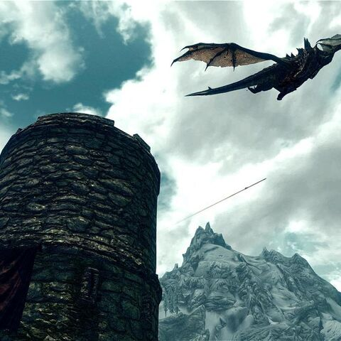 Mirmulnir okrąża wieże strażniczą.