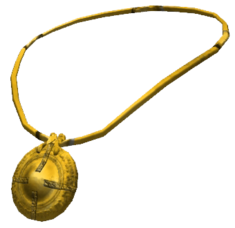Oblivion amulet gold