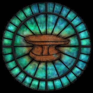 Witraż z symbolem Zenithara z gry The Elder Scrolls IV: Oblivion