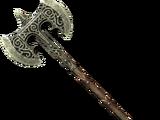 Steel Battleaxe of Fiery Souls