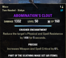 Abomination's Clout